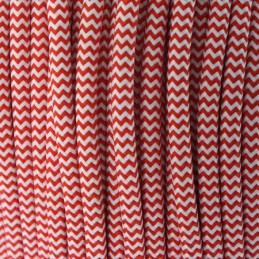 CABLE TEXTIL ROJO/BLANCO -...